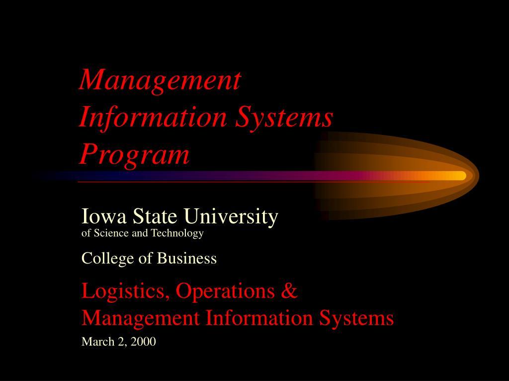 management information systems program l.