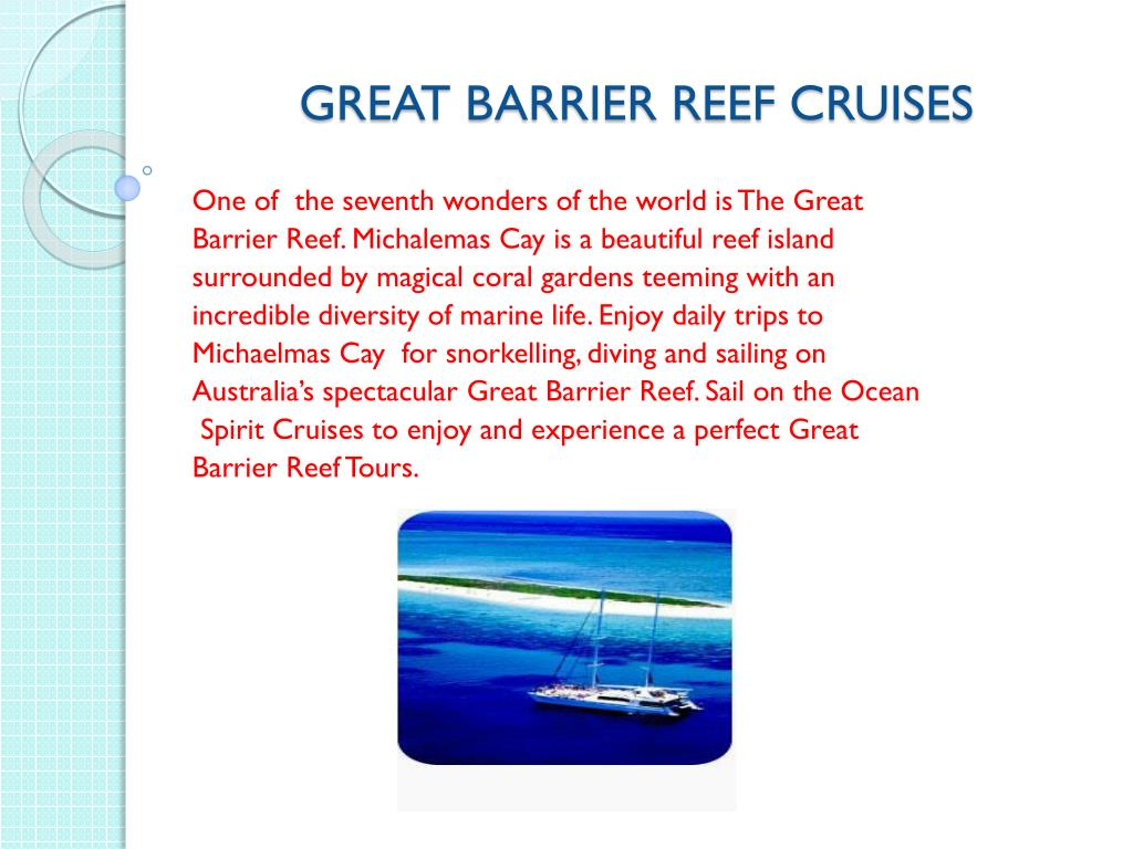 great barrier reef cruises l.