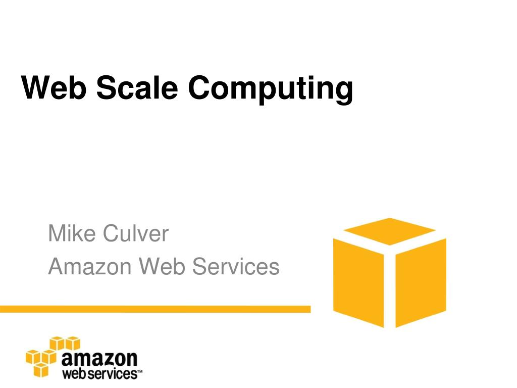 web scale computing l.