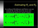 estimating r u and r d
