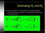 estimating r u and r d24