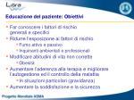 educazione del paziente obiettivi