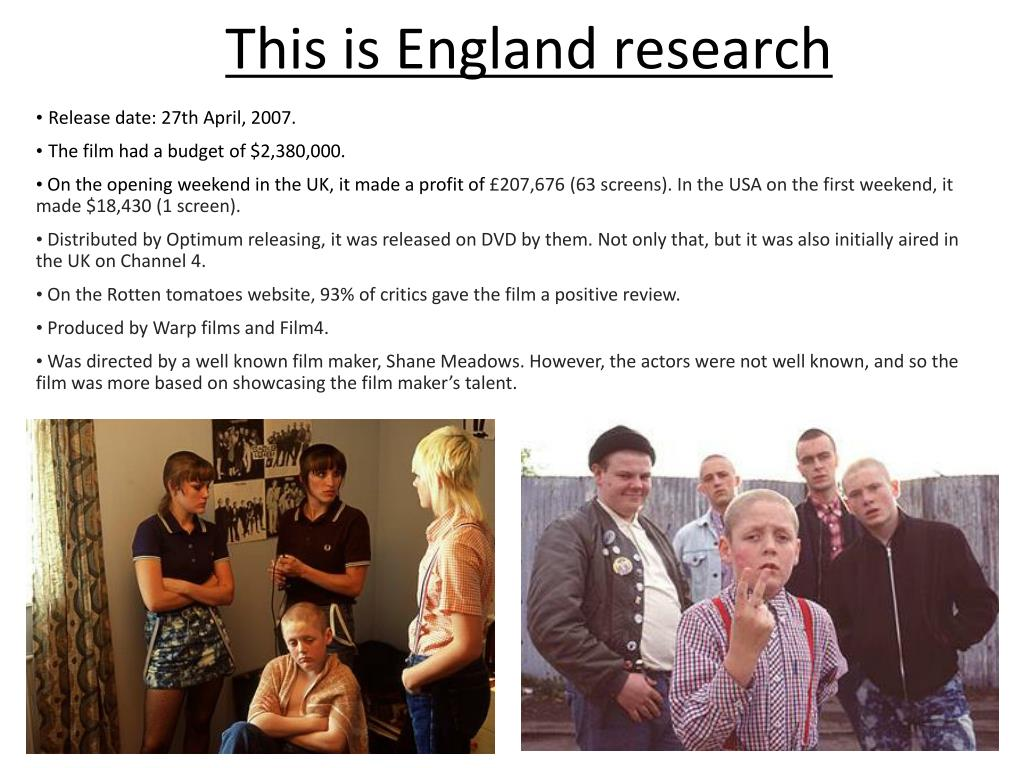 this is england research l.