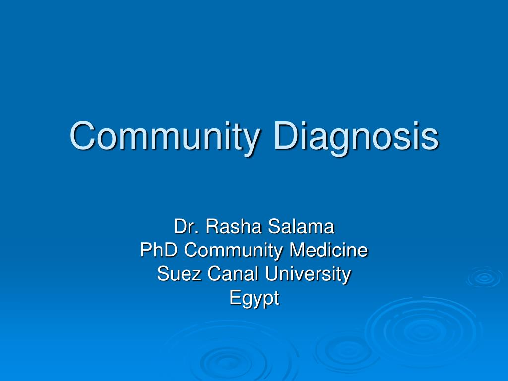 community diagnosis l.