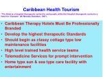 caribbean health tourism