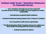 caribbean health tourism telemedicine infrastructure for sustainable services