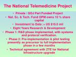 the national telemedicine project