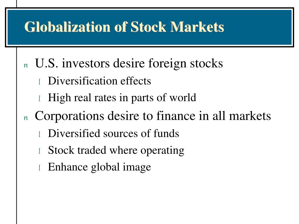 Globalization of Stock Markets