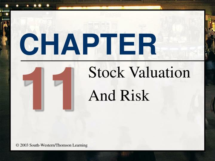 stock valuation and risk n.