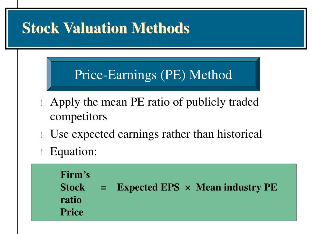 stock valuation methodologies essay