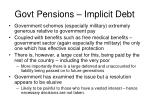govt pensions implicit debt