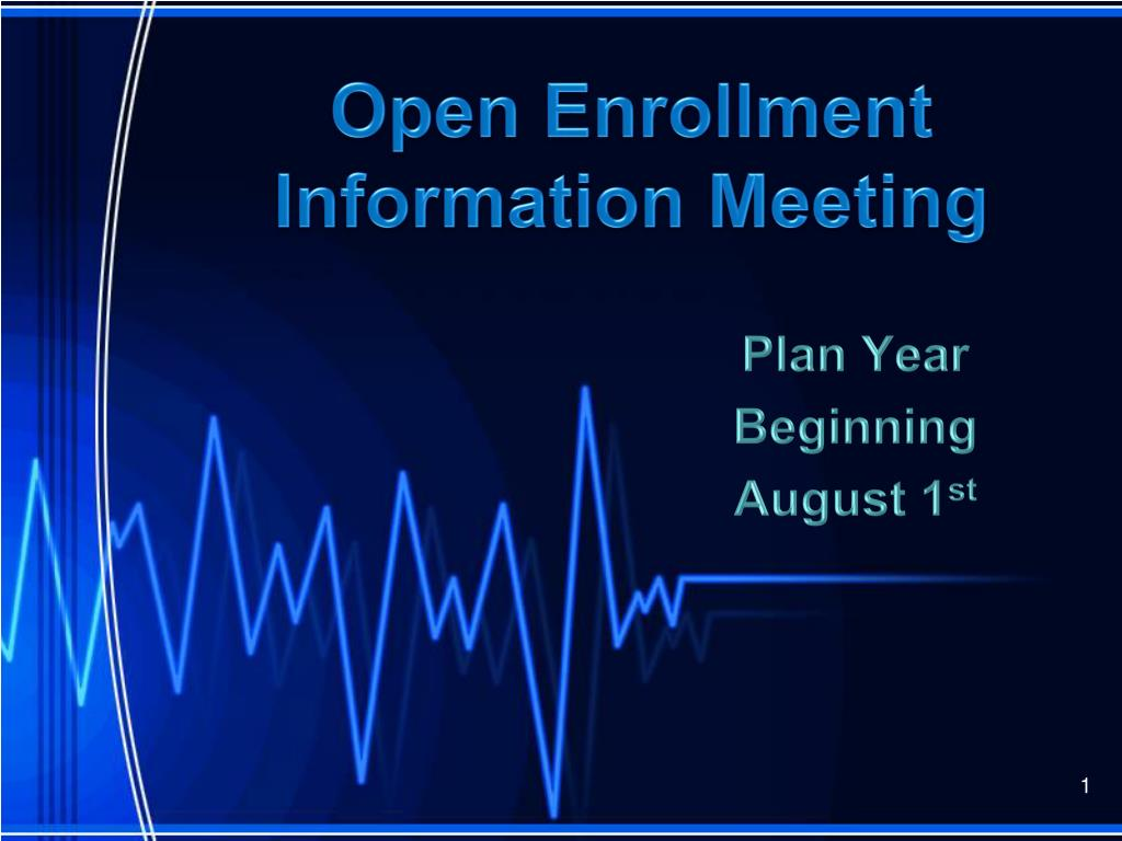 open enrollment information meeting l.
