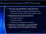 request for proposal rfp process