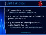 self funding
