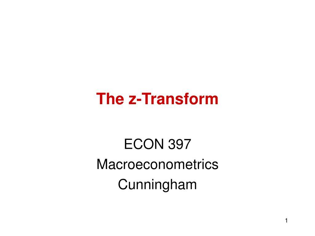 the z transform l.