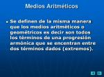 medios aritm ticos18