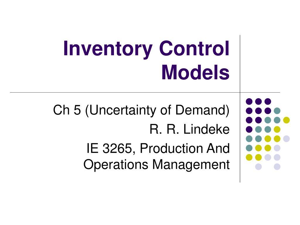 inventory control models l.