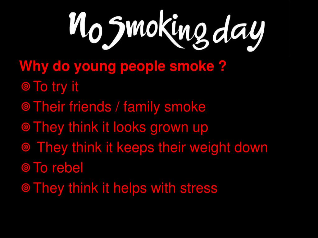 Why do young people smoke ?