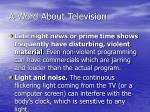 a word about television36
