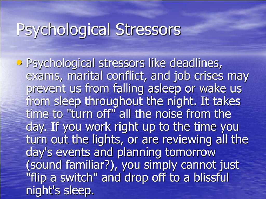Psychological Stressors