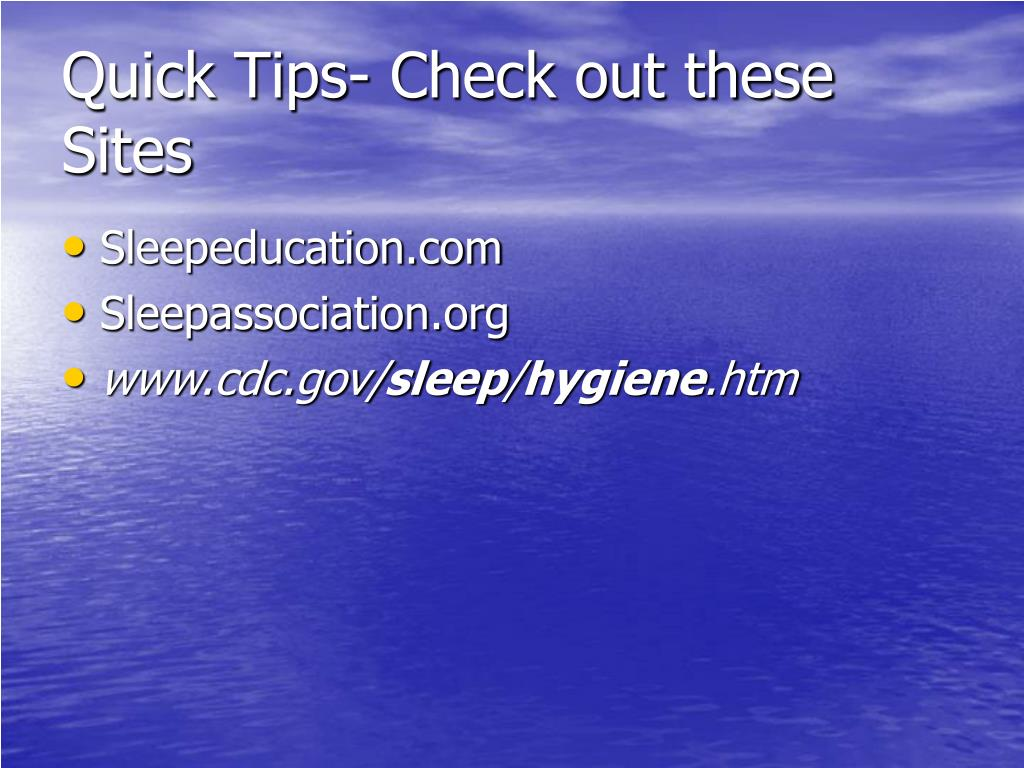 Quick Tips- Check out these Sites