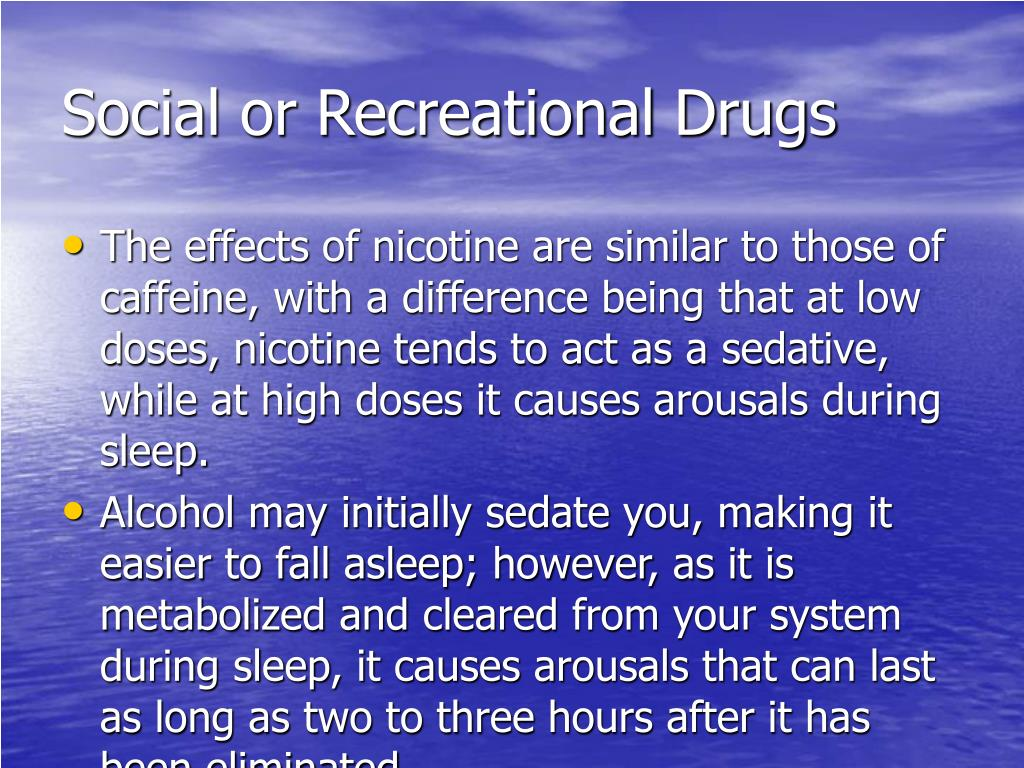 Social or Recreational Drugs