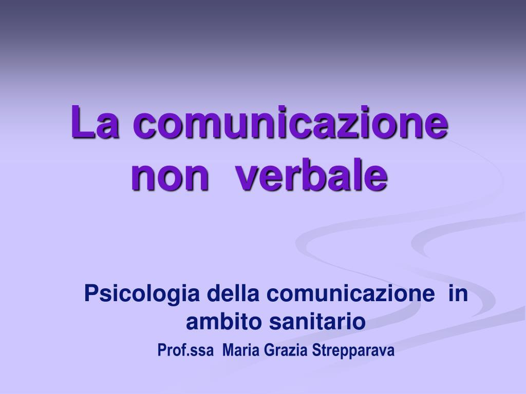 la comunicazione non verbale l.