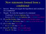 new statements formed from a conditional7