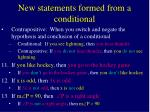 new statements formed from a conditional8
