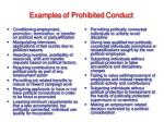 examples of prohibited conduct