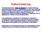 political contact log