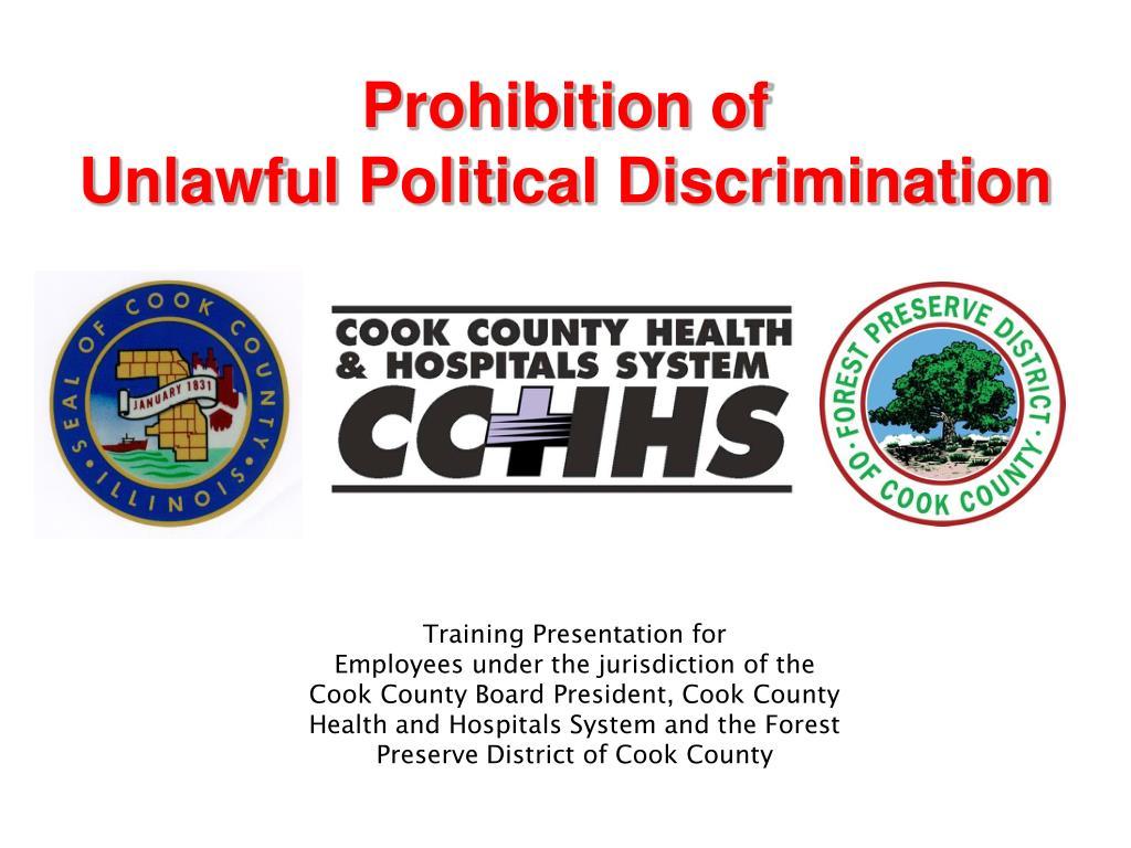prohibition of unlawful political discrimination l.