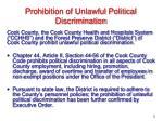 prohibition of unlawful political discrimination6