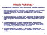 what is prohibited
