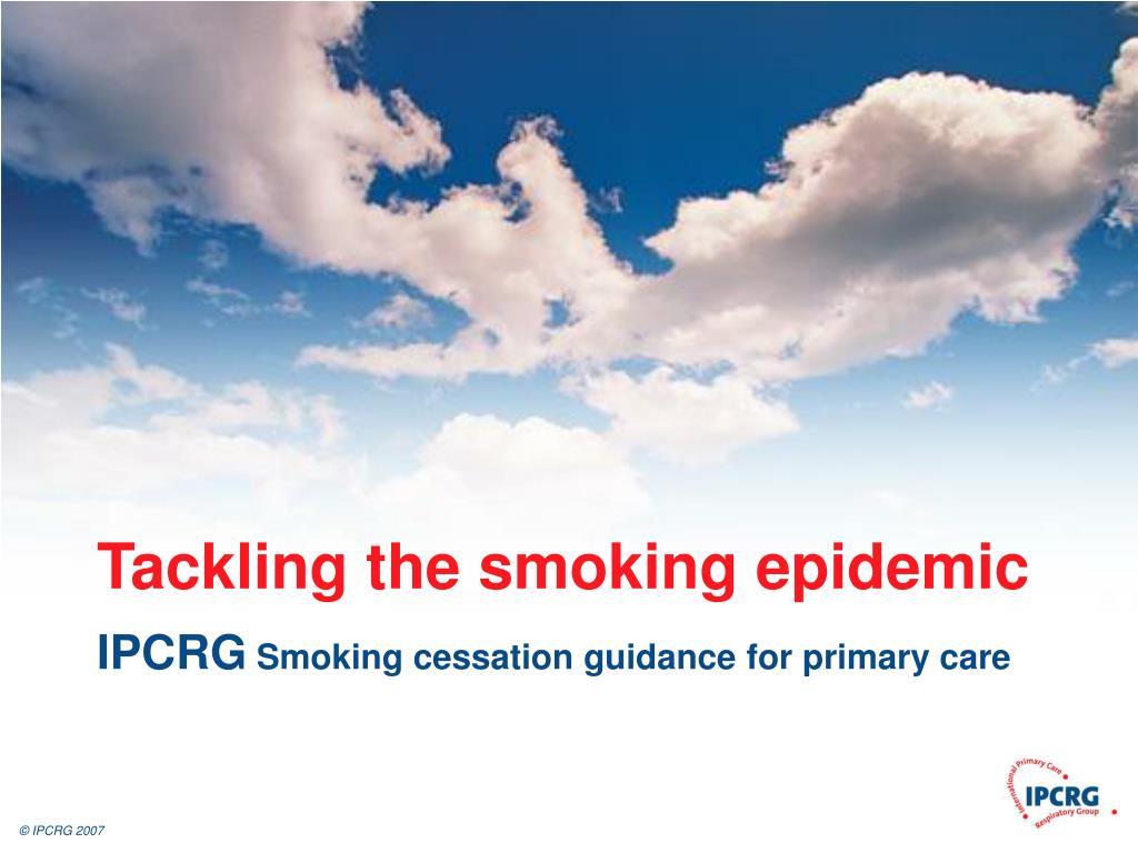 tackling the smoking epidemic l.
