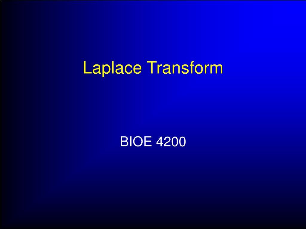 laplace transform l.