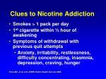 clues to nicotine addiction