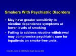 smokers with psychiatric disorders6