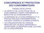 concurrence et protection des consommateurs2
