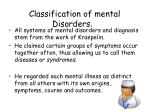 classification of mental disorders2