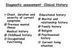 diagnostic assessment clinical history