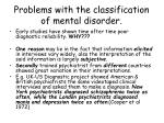 problems with the classification of mental disorder19