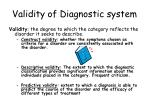 validity of diagnostic system