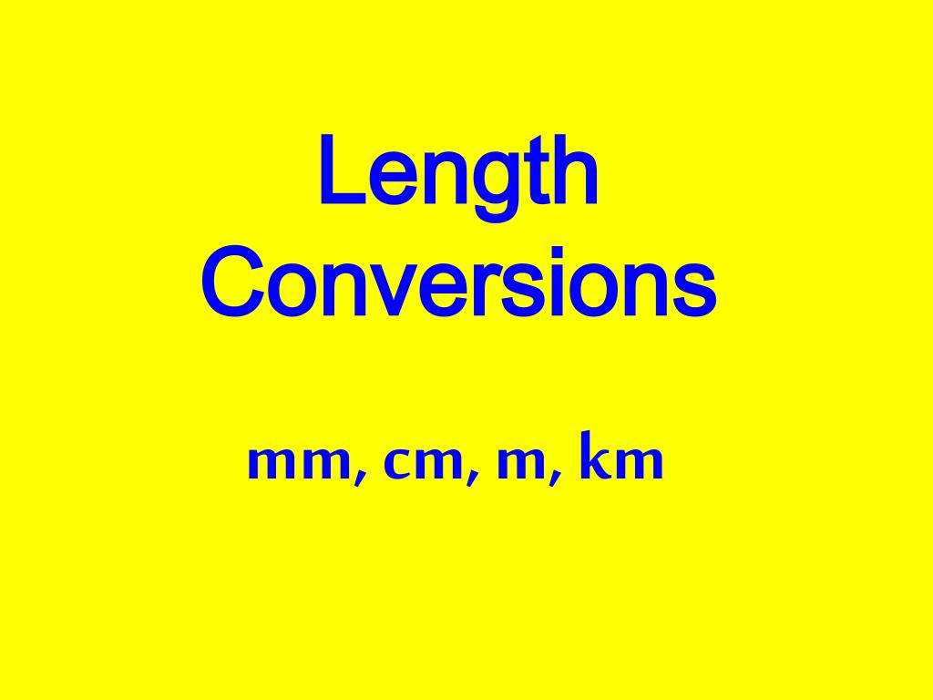 length conversions l.