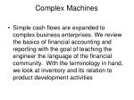 complex machines