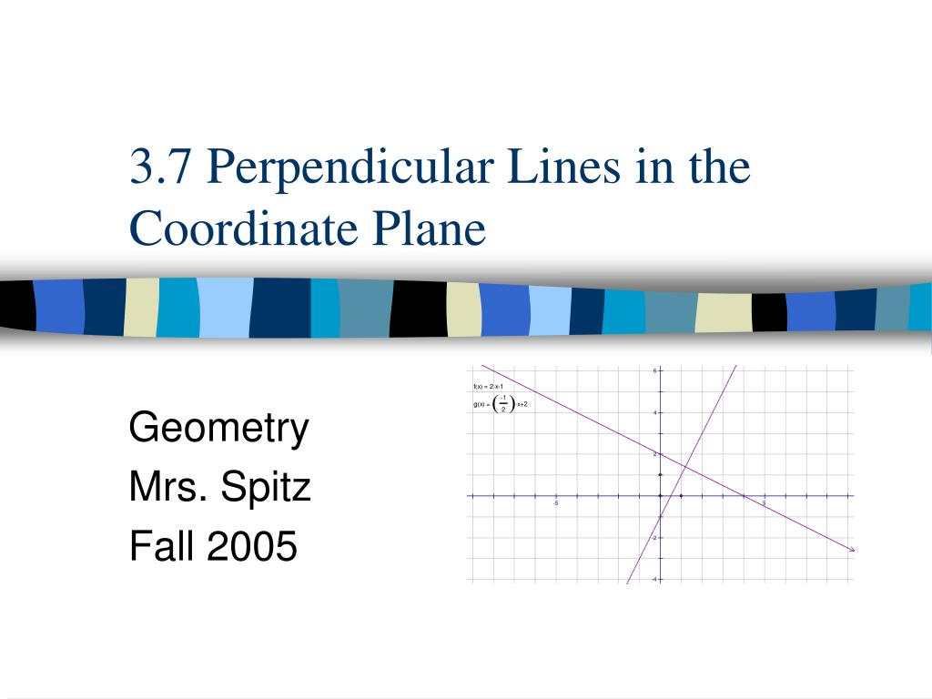 3 7 perpendicular lines in the coordinate plane l.