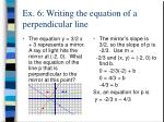 ex 6 writing the equation of a perpendicular line