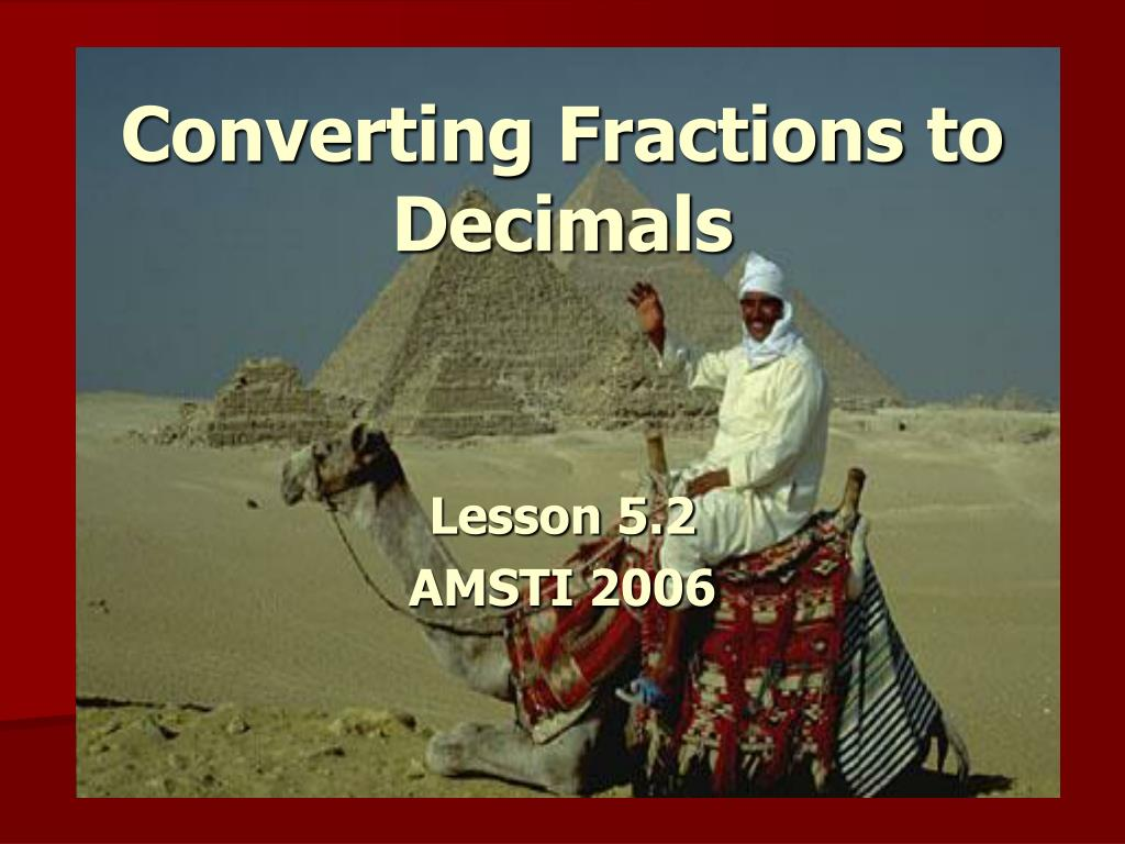 converting fractions to decimals l.