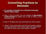 converting fractions to decimals8