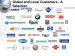 global and local customers a selection